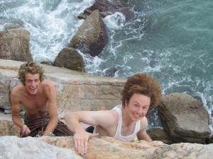 Klettern übern Meer