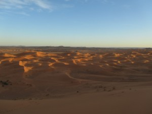 wüste abend
